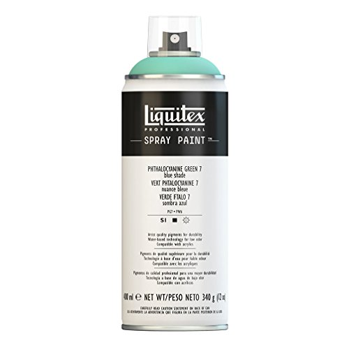 Liquitex 4457317 Professional Spray Paint 12-oz, Phthalocyanine Green 7 (Blue Shade)