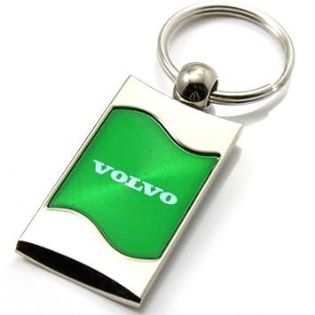 Llavero con logotipo de Volvo, diseño de ondas de cromo ...