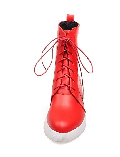 Eu36 Rojo Rosa Anfibias Botas us5 Zapatos Xzz Negro Semicuero Cn36 Uk3 us6 Plataforma Puntiagudos Red White Eu35 Casual Blanco De Cn34 Mujer Uk4 RqqwAWPv