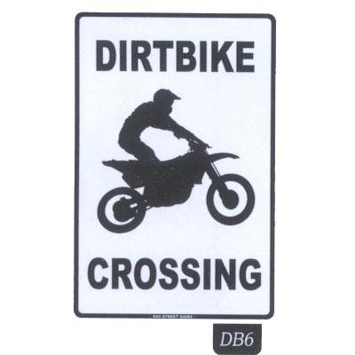 Seaweed Surf Co DB6 12X18 Aluminum Sign Dirtbike Crossing (Seaweed Surf Co compare prices)
