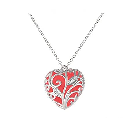 Amazon.com: 1PCS Silver chain charm heart frame necklace frame ...