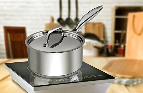 Utopia Kitchen 2 Quart Sauce Pan with Lid - Induction Compatible Stainless Steel Saucepan - Dishwasher Safe by Utopia Kitchen (Image #7)