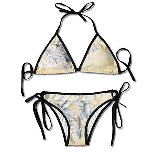 kjhep lk Sexy Soft Bikini 2 Pieces,Wild Creature Safari Exotic Sexy Bikini 2 Pieces