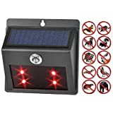Seicosy Solar Powered Predator Deterrent LED Light Animal Repeller,Waterproof Multifunction Repels all Common Night Predators - 1 Pack, Waterproof, Deterrent Light Nocturnal Animals