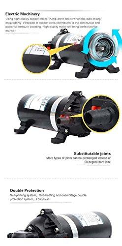GSLOOK AC110V/115V High Pressure Diaphragm Water Pump 160PSI 8L/min, Self-priming Misting Booster Pump Sprayer for Caravan/RV/Boat/Marine by GSLOOK (Image #4)