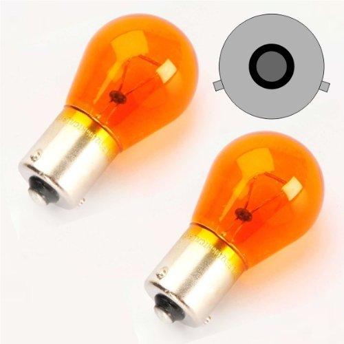 Akhan BAU15S02Y PY21W BAU15S Indicator-Yellow 12V 21W Offset Pins