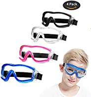 Safety Glasses Kids Goggles Children Eye Protective Anti-Fog, Full Eyes Playing Unisex for Outdoor Sport.