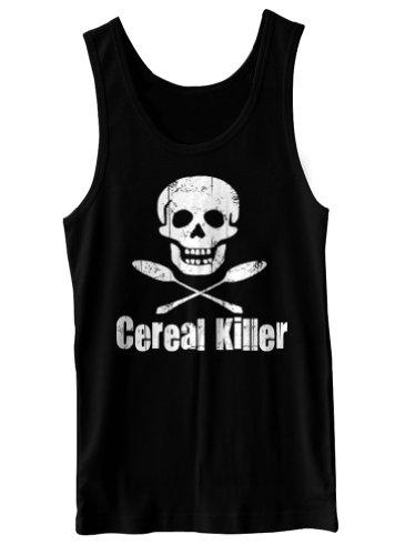 Cereal Killer Funny Biker Tattoo Skull Humor Tank Top