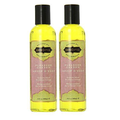 8 Ounce Garden - Kama Sutra Massage Oil, Pleasure Garden, 8 Ounces (Set of 2)