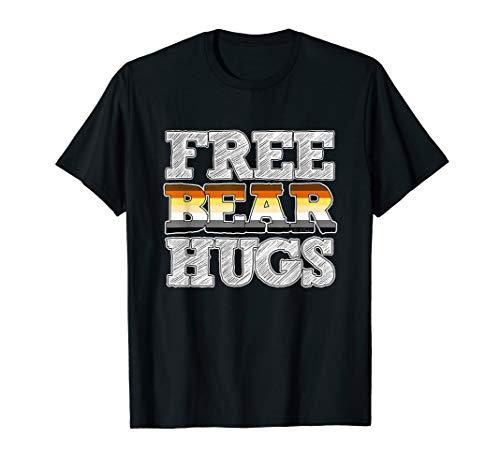 - Gay Bear Shirt Pride Flag Free Bear Hugs T Shirt Gift