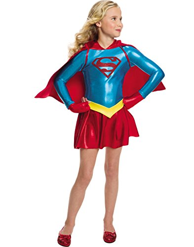 Rubie's Costume Girls DC Comics Supergirl Dress Costume, Medium, Multicolor]()
