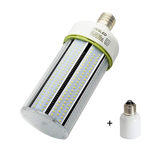 JESLED 100W LED Corn Light Bulb, E39 Mogul Base LED Bulbs, 5000K Daylight, 13500LM, 400-600 Watt Equivalent, CFL HPS Metal Halide Lamp Replacement for Garage Warehouse Outdoor Street Area Lighting from JESLED