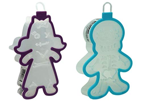 Halloween Cookie Cutters Zombie Girl and Skeleton Set -