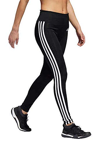 adidas Womens 3 Stripe Active Tights (M, Black/White)