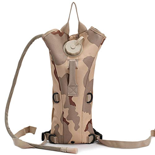 CShopping Tactical Hydration Pack with 3L Water Bladder, Hydration Carrier Water Bag Pouch with Thermal Baffle for Hiking, Climbing, Hunting, Running, Survival, Desert Camo