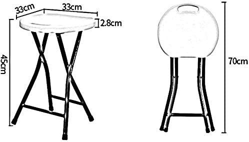 QTQZDD Siège Haute résistance, Unique et Ergonomique, Design Tabouret de Bar d\'une capacité de 200 kg Tabouret Pliant Bleu foncé 333345cm (Couleur: Vert)
