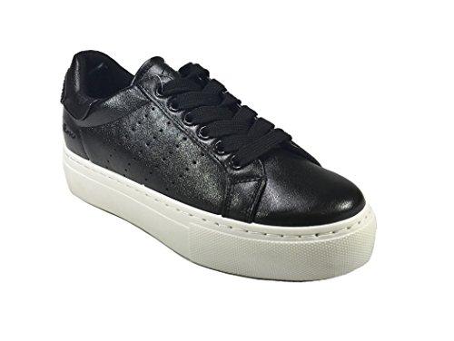 3 Sneaker Donna 0411 Nero Casual Scarpa Zeppa Woman ROXY con ROSE cm ETqzff