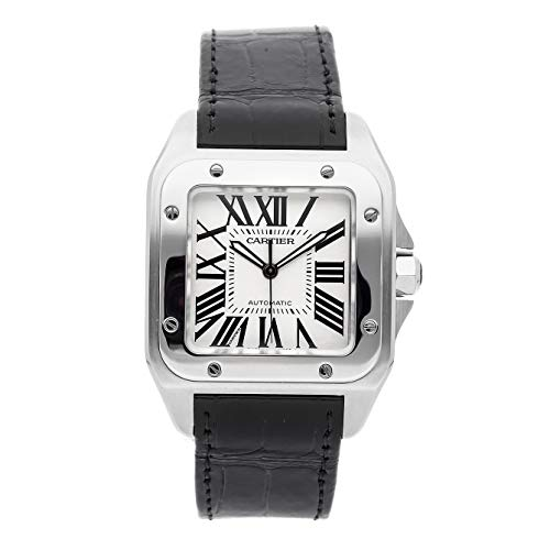 Cartier Santos Mechanical (Automatic) Silver Dial Mens Watch W20073X8 (Certified Pre-Owned) (Cartier Mechanical Watch)