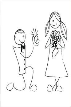Wedding Journal Groom Proposes Bride Bended Knee: (Notebook, Diary, Blank Book) (Wedding Journals Notebooks Diaries)