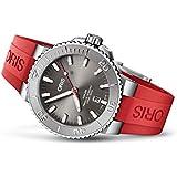 国内正規品 ORIS オリス アクイス デイト レリーフ 43.5mm AQUIS DATE メンズ 腕時計 自動巻き ダイバーズ ラバーベルト グレー文字盤 01 733 7730 4153-07 4 24 66EB