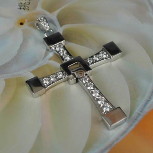 FAST and FURIOUS Vin Diesel Dominic Toretto's Cross Pendant NecklaceTitanium Steel costume (Cross Costumes Jewelry)