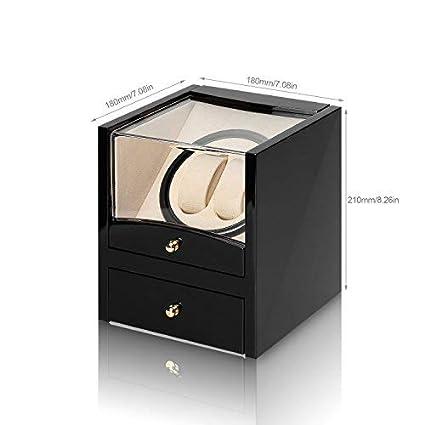 Caja giratoria para Relojes automatico Watch Winder Madera de Almacenamiento 2 Reloj de Pulsera (2+2): Amazon.es: Relojes