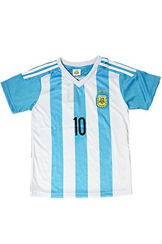 8c395e3fe 2015 2016 Argentina Kids  10 MESSI Soccer Jersey   Shorts Youth Sizes (L