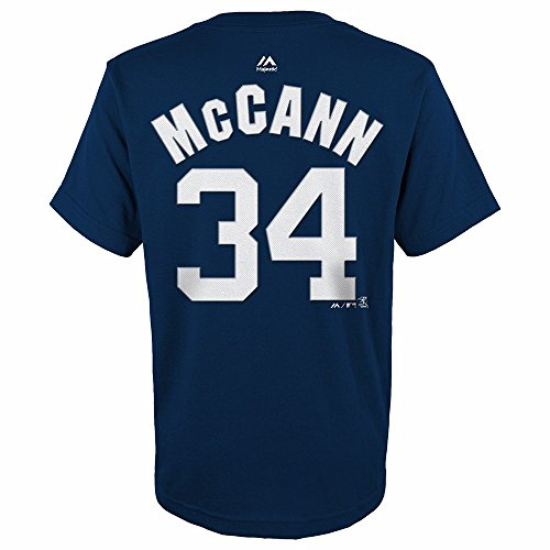 Brian McCann New York Yankees MLB Majestic Youth's Navy Blue Player Name & Number Jersey T-Shirt (BOY14-16_L) ()