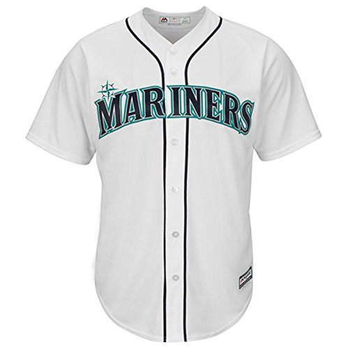 Seattle Mariners Blank White Youth Cool Base Home Replica Jersey (X-Large 18/20)