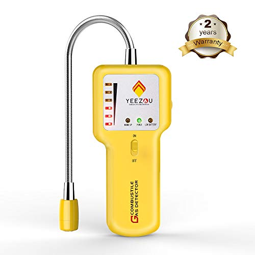Gas Detector Sensor - Upgrade Natural Gas Detector - Methane Propane Combustible Gas Leak Sniffer Detector with Sound Light Alarm - Portable Gas Sensor Tester