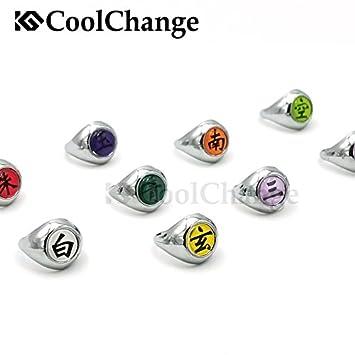 CoolChange 10 Anillos de Metal de los Miembros Akatsuki