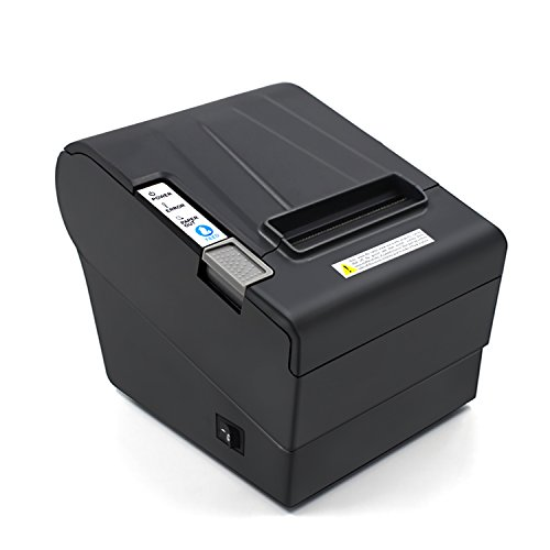 Review Of Desktop POS Direct Thermal Receipt Printer,300mm/second Print Speed–Auto Cutter–USB/RS232/LAN Multiple Ports–Compatible With POS Commands–Work on Windows XP/7/8/8.1/10/Linux/Android