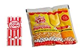 Carnival King popcorn bags -200 pieces + Carnival King All-In-One Popcorn Kit for 8 oz. Popper - 24/Case + 4 Coasters