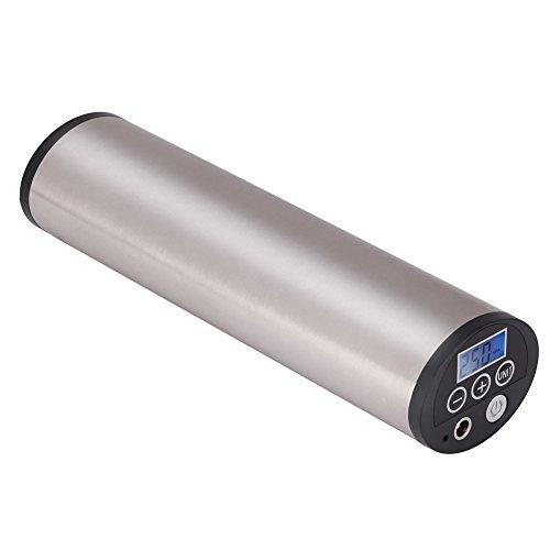Mini Auto-Luftpumpe Elektrischer Luftverdichter für Fahrrad Ball Ballon 150 PSI Portabel Aufladbar mit LCD-Display