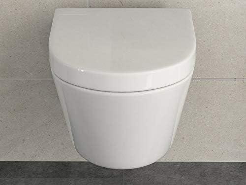 Inodoro colgante de diseño, sin borde, incluye asiento de inodoro ...