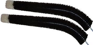 Radiador de cepillo de limpieza de alrededor de 120 cm con pelo de cabra de cerdas, 2 pcs