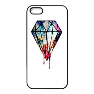 Doah Hand Painted Diamond IPhone 5,5S Case, [Black]BY autodiy