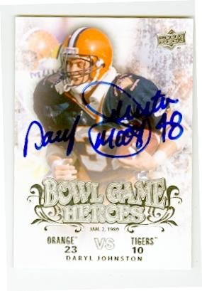 Daryl Moose Johnston autographed Football Card (Syracuse Orange) 2011 Upper Deck #BGH-DJ Bowl Game Heroes - Syracuse Bowl Games