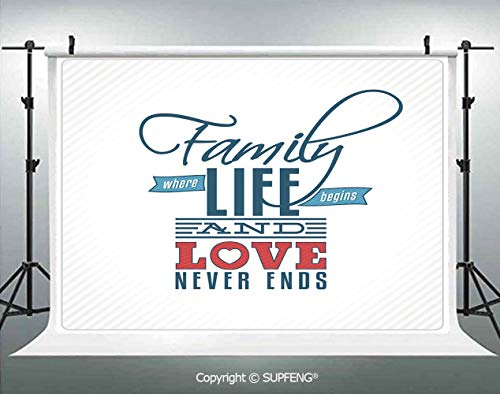 Photography Backdrops Vintage Greeting Card Inspired Design with a Quote About Family and Love 3D Backdrops for Photography Backdrop Photo Background Studio Prop -
