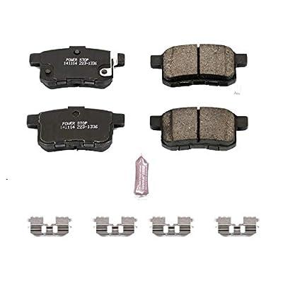 Power Stop Z23-1336, Z23 Evolution Sport Carbon-Fiber Ceramic Rear Brake Pads: Automotive