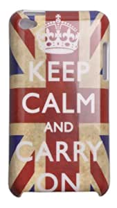 Einzige Hard Skin Case Cover for Apple iPod Touch 4G with Free Universal Screen-Stylus (Keep Calm UK Flag)