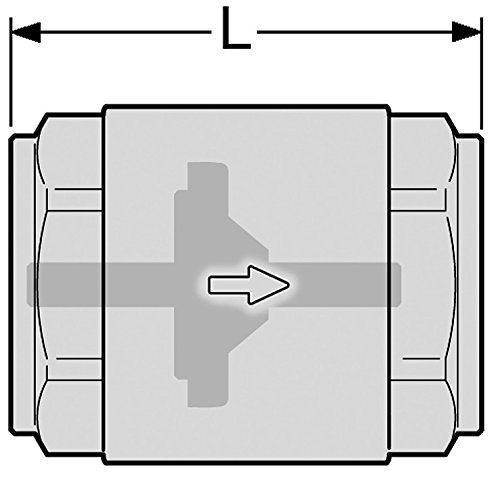 R/ückschlagventil//Schwerkraftbremse 1 Zoll Innengewinde beidseitig SOLAR