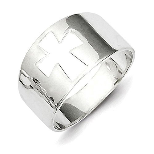 Lex & Lu Sterling Silver Cross Cutout -