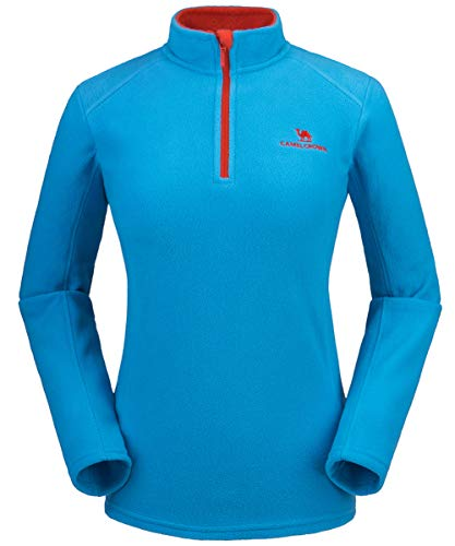 CAMELSPORTS Half Zip Pullover Women Long Sleeve Polar Fleece Pullover Jacket for Autumn and Winter