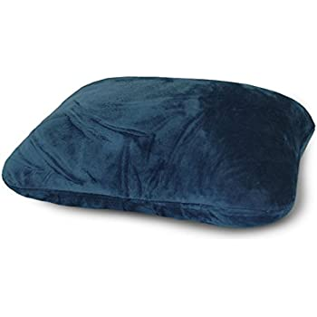 World's Best Microfiber Feather Soft Retangular Travel Pillow, Navy,