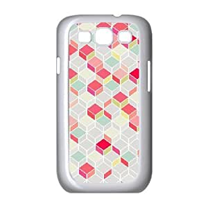 Jumphigh Geometric Chevron Samsung Galaxy S3 Cases Pop Arty, and a Bit Like a Quilt. Nice Retro Design Plus Modern, Summery Shades. for Guys Design, Samsung Galaxy S 3 Cases for Girls for Guys Design [White]