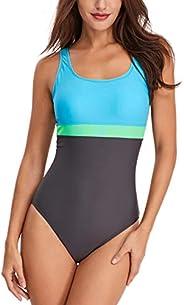 HAIVIDO Women's Athletic U Back One Piece Swimsuit Sports Training Bathing
