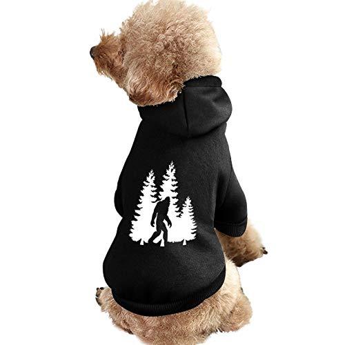 BIGFOOT TREES FORESTPET DOG HOODIE SWEATSHIRT-작은 중형 개를위한 강아지 고양이 코트 스웨터 WINDPROOF WARM