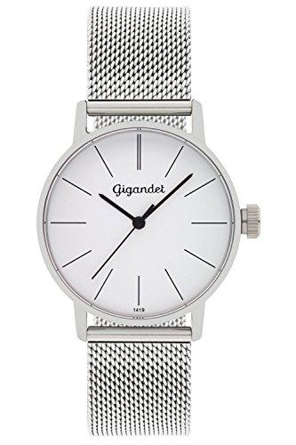 Gigandet Women's Quartz Watch Minimalism Analog Stainless Steel Bracelet Silver G43-005