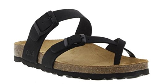 Oak & Hyde Savannah - Waxy Black Leather (BURKINSTOCK Style Sandals)
